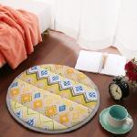 【HomeBeauty】印花細緻法蘭絨超厚款圓型地墊-直徑50cm(共八色)(金式法頌)