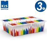 義大利KIS CBOX畫筆系列收納箱(附滾輪) L *3入