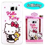 【Hello Kitty】Samsung Galaxy Note 5 彩繪透明保護軟套(心媚kitty)