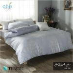【obis】100%天絲雙人床包兩用被組-夏洛名伶