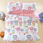BELLE VIE 花意盎然 精梳棉單人四件式床包兩用被組