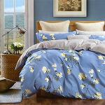 【Valentino Rudy】陌上花開純綿兩用被套床包組-雙人