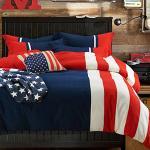 RODERLY 美國隊長 拼接 三件式鋪棉兩用被床包組-單人