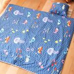 Missya《海洋世界》純棉冬夏兩用舖棉兒童睡袋-附枕心