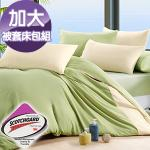 J-bedtime《抹茶慕斯》3M吸濕排汗X防蹣抗菌四件式被套床包組-加大