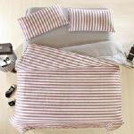 BELLE VIE 精梳棉雙人床包枕套組三件式 宜家時尚-紅 (不含被套)