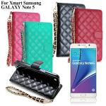 X_mart 三星 Galaxy Note5 守候甜心菱格紋書本手機皮套(多情磚紅)
