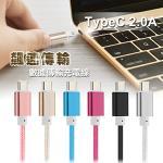 X_mart USB3.1 Type-C 鋁金風快速傳輸充電線(1M) 2入(銀色)