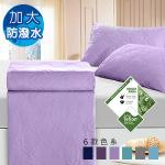 J-bedtime《幸運藤-淺紫》 杜邦防潑水X防蹣抗菌床包式保潔墊-加大