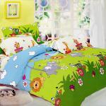 原售1580元↘【塔妮雅】森林王國。加大純棉四件式涼被床包組