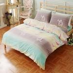 SHINEE 《浪漫彩絹》標準雙人純棉四件式被套床包組