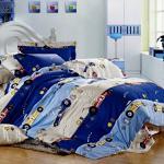 塔妮雅【瘋狂賽車】加大全舖棉四件式二用被床包組