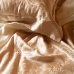 BBL 沁荷100%蠶絲.素色提花加大床包組