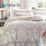 【Alleena】《朵拉瑟約(粉)》天絲加大雙人床包三件組