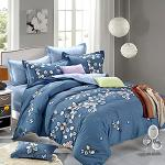 Royal Literie 《花葉弄蝶》 精梳純棉雙人兩用被床包四件組