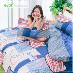【eyah】頂級極細柔絲綿雙人加大床包涼被4件組-搖滾喵喵