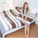 【eyah】頂級極細柔絲綿雙人加大床包涼被4件組-簡約日記本