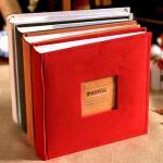【Seoul幸福市集】可收納200張4x6麂皮絨布寫字記事相冊(紅色)