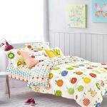 BELLE VIE 精梳棉單人床包被套三件組 愛吃水果 台灣製