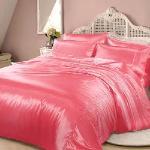 RODERLY - 草莓瑪格莉-絲緞 加大四件式被套床包組