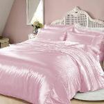 RODERLY - 粉紅佳人-絲緞 加大四件式被套床包組