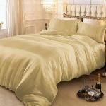 RODERLY - 黃金夢-絲緞 加大四件式被套床包組