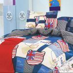 BUTTERFLY 柔絲絨 雙人薄床包枕套三件式 【英倫凱蒂-藍】