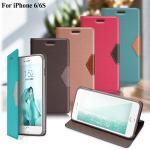 GENTEN iPhone 6 / 6S 簡約守護磁力皮套(輕漾彩綠)