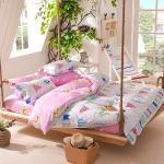 Lapin 旗海飛揚-粉紅 台灣製造活性印染磨毛單人床包被套三件組