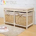 Bernice-安妮日系收納穿鞋椅/座式鞋櫃