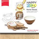 【義大利Giannini】HAPPY ZOO兒童餐盤禮盒組★Mason Monkey梅森猴
