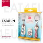 【義大利Giannini】EAT4FUN兒童餐具組★Boy Doctor男孩醫生