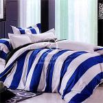 原售1780元↘【塔妮雅】假日情調。加大純棉四件式二用被床包組(藍)