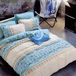 原售1480元↘【塔妮雅】彩瓷雅。雙人純棉四件式二用被床包組