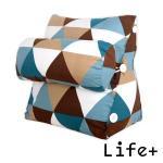 典雅風尚舒壓萬用靠枕/抱枕/腰靠枕 (藍咖格紋)