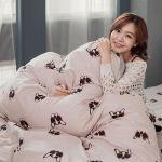 BELLE VIE 家有酷狗 台灣製 精梳棉單人三件式床包被套組