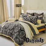 Daffodils《古老密語》雙人特大四件式超柔法蘭絨兩用被鋪棉床包組