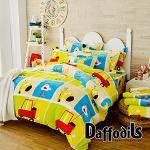Daffodils《早安小鹿》雙人加特大四件式超柔法蘭絨兩用被鋪棉床包組
