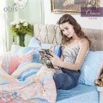 【obis】100%純棉單人3.5X6.2尺床包兩用被組-深海悠遊