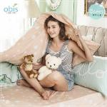 【obis】100%純棉雙人5X6.2尺床包兩用被組-熊然心動