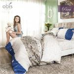 【obis】100%純棉雙人加大6X6.2尺床包兩用被組-微醺巴黎