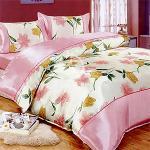 原售1780元↘ 【蒂凡芮】花之情。加大絲緞四件式二用被床包組