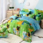 義大利Fancy Belle X Malis《大自然的淋浴》單人三件式防蹣抗菌舖棉兩用被床包組