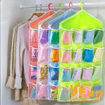 【iSFun】居家收納*衣物雜貨16格掛袋/二色(綠)