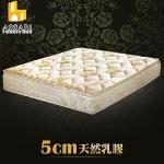 ASSARI-典藏旗艦5cm天然乳膠三線強化側邊獨立筒床墊(雙人5尺)