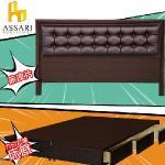 【ASSARI】房間組二件(皮床片+3抽屜床架)單大3.5尺(胡桃)