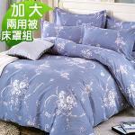 J-bedtime《純淨戀典》 質感加厚雲絲絨六件式舖棉床罩組-加大