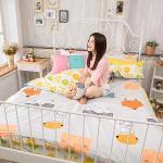 BELLE VIE 貓的旅行(C版枕套) 台灣製 精梳棉單人三件式床包被套組