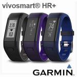 GARMIN vivosmart HR+ 腕式心率GPS智慧手環-藍色