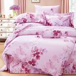 Royal Literie《卉影-粉》100%天絲 雙人四件式兩用被套床包組